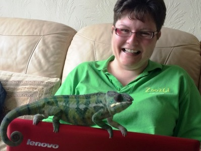 Sadie from Zoo2U with chameleon